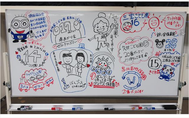 園から学生さんへのメッセージボード