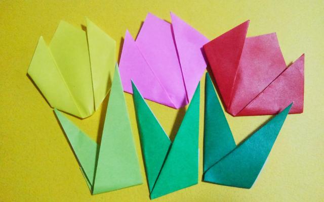 チューリップの折り方
