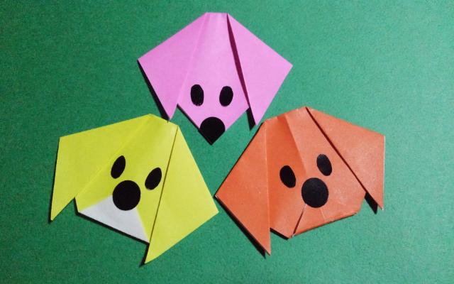 イヌの折り方_3種類