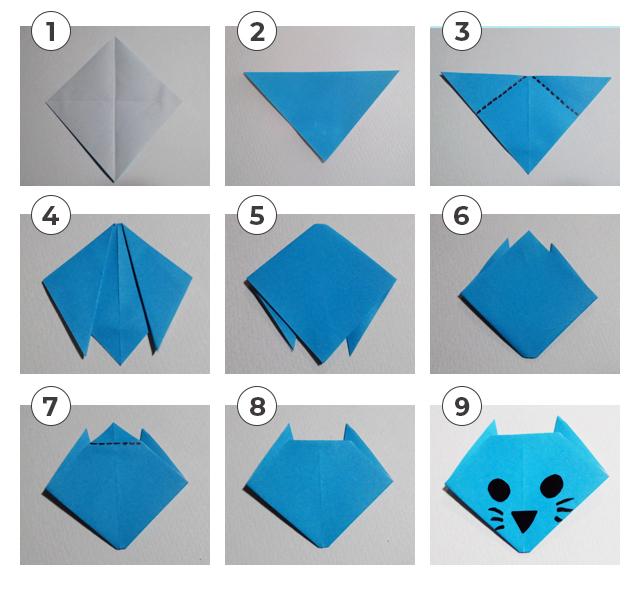 ネコの折り方