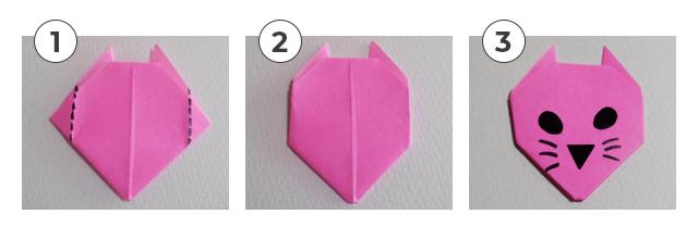 ネコの折り方2